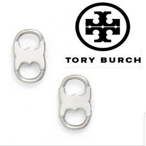 JUST IN🔶️ Tory Burch Silver Gemini Duality Studs